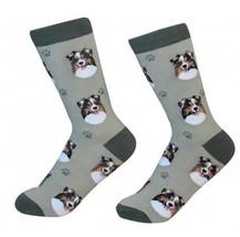 Australian Shepherd Socks Unisex Dog Cotton/Poly One size fits most - $11.99