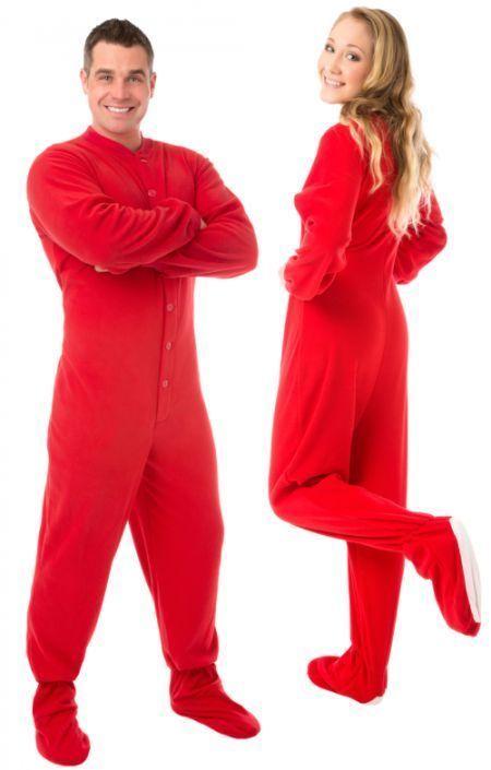 S l1600. S l1600. Previous. Big Feet PJs Red Micro Polar Fleece Adult  Footed Pajamas Onesie · Big Feet PJs ... 38534e454