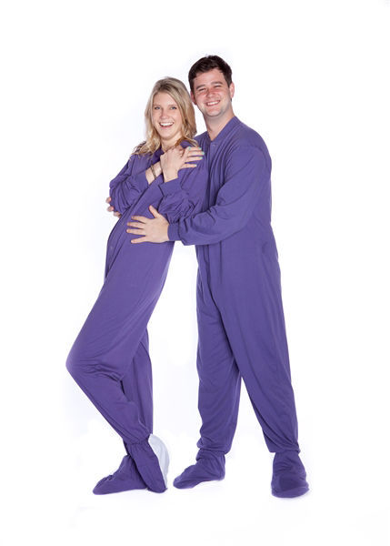 5547a827ab1b S l1600. S l1600. Previous. Big Feet Pjs Purple Jersey Knit Adult Footed  Pajamas with Onesie ...