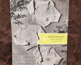 Vintage Greenock Double Knitting Patterns CHILDRENS Pullover Sweater 22 ... - $3.95