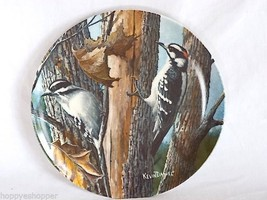 "Downy Woodpecker Knowles Collector Plate 8.5"" 1987 Birds Your Garden Col... - $9.89"
