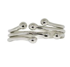 Plain Solid 925 Sterling Silver Stacking Jewelry Ring Size 7 SHRI0487 - $13.45