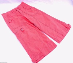 GAP Girls Regular 10 Capris Pants Zip Snap Pockets 100% Cotton Coral Red Cute - $16.72