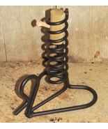 Amish Courting Candle WROUGHT IRON Stick Holder Primitive Handmade Ameri... - $21.57