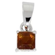 Classic sweet design citrine gemstone solid 925 sterling silver pendant SHPN0258 - $7.70