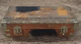 Rare Vtg Antique Boeing Box Rugged Cargo Wooden Metal Airplane Toolbox A... - $210.38