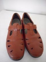 Womens SAS Brown Leather Mary Jane Roamer Fisherman hook/loop Comfort Sh... - $59.39