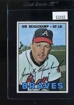 1967 TOPPS #307 JIM BEAUCHAMP EX NICELY CENTERED *53356  - $4.00