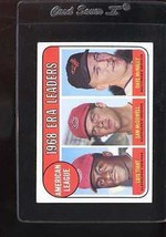 1969 TOPPS #7 AL ERA LEADERS VG NO CREASES NICELY CENTERED *131904  - $4.00
