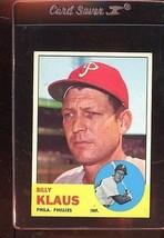 1963 TOPPS #551 BILLY KLAUS EX CENTERED *87219  - $7.70