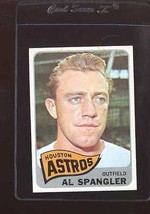 1965 TOPPS #164 AL SPANGLER VG CREASE WAX FRONT NICELY CENTERED *157794  - $2.00