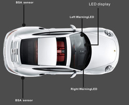 FITS ALL REAR BLIND SPOT DETECTOR FOR BMW BSA WARNING LAMP UNIVERSAL ASSIST - $118.75