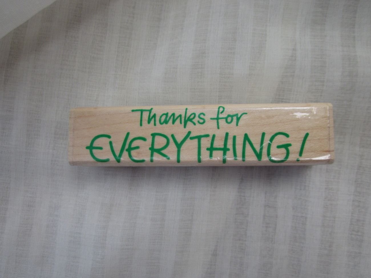 Thanks for Everything Hero Arts Rubber Stamp Made in USA F713