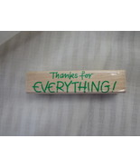 Thanks for Everything Hero Arts Rubber Stamp Ma... - $2.50