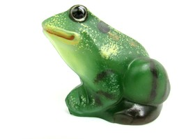 Fenton Art Glass Hand-Painted Natural Green Frog - Signed by Artist By Pam Fleak - $123.75
