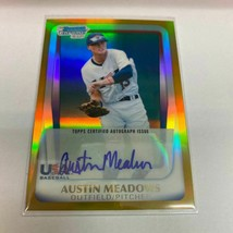 Austin Meadows Rc 2011 Bowman Chrome Draft 16U Usa National Team Gold Re... - $327.90
