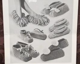 Chieftain Canadiana Vintage Knitting Patterns FAMILY Slippers MEN WOMEN CHILDREN - $5.95