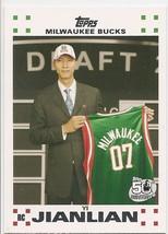 YI JIANLIAN 2007-08 Topps WHITE Rookie Set #6 ROOKIE CARD RC Team CHINA ... - $0.94