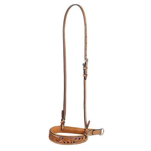 MESQUITE CANYON WESTERN HORSE FANCY LEATHER NOSE BAND ROPING BARREL RACING GAMES