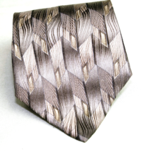 Zylos by George Machado 100% Silk Neck Tie Geometric   - $7.43