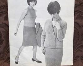 Loopella Bouclana Vintage Knit Knitting Patterns LADIES Blazer Suit Shell RETRO - $7.95