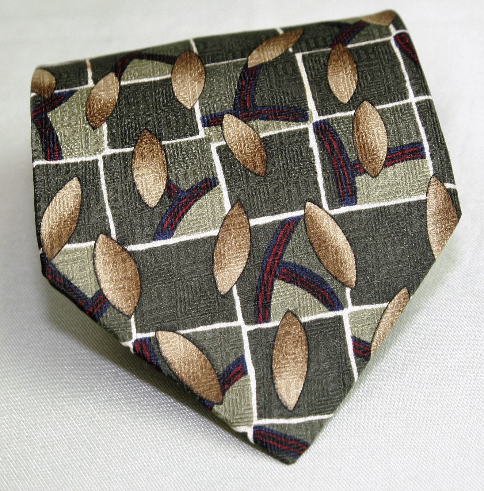 Zylos by George Machado 100% Silk Neck Tie Geometric