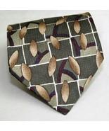 Zylos by George Machado 100% Silk Neck Tie Geometric   - $7.43