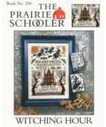 Witching Hour REPRINThalloween cross stitch chart Prairie Schooler  - $10.80