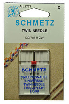 Schmetz Sewing Machine Twin Needle 1777 - $4.75