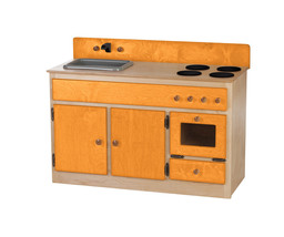 Kitchen Sink Stove & Oven ~ Natural Orange Amish Handmade Play Toy Furniture Usa - $376.17