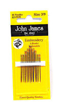 John James Embroidery Needles Size 3/9 - $8.50