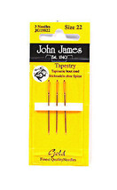 John James Cross Stitch Tapestry Gold Needles Size 22 3ct - $8.50