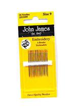 John James Embroidery Needles Size 9 - $8.50