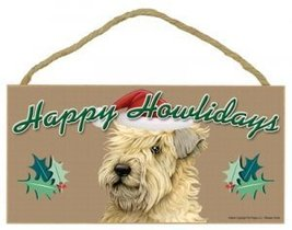 """Happy Howlidays"" Wooden Sign - Wheaten Terrier - $12.86"