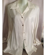 Kathie Lee Whitw Shirt Blouse Size Large Dress ... - $20.00