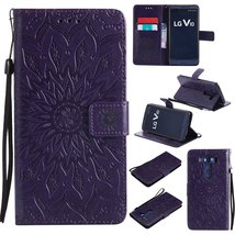 LG V10 Case,LG H900 Case,XYX [Purple Sunflower][Wrist Strap][Kickstand] ... - $3.95