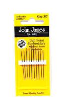 John James Embroidery Ball PoInt Needles Assort... - $8.50