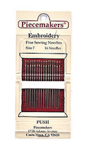 Piecemaker Embroidery Fine Sewing Needles Size 7 - $8.50