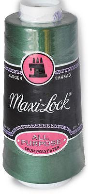 Maxi Lock All Purpose Thread Churchill Green 3000 YD Cone  MLT-015