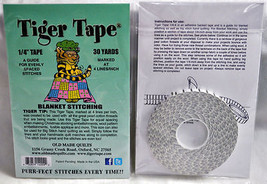 "Tiger Tape 1/4"" Buttonhole Stitching Tape 30yar... - $16.75"