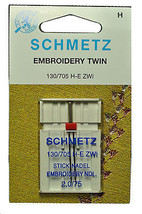 Schmetz Sewing Machine Twin Embroidery Needle 1736 - $8.00