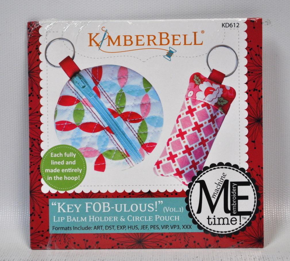 KimberBell Key Fobulous Lip Balm Holder and Circle Pouch CD KD612 - $13.75