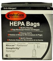 EnviroCare Vacuum Cleaner Bags for Riccar Radiance, Simplicity Synergy, 853 - $21.00