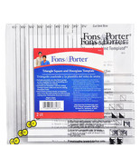 Fons & Porter Triangle Square And Hourglass Template - $26.25