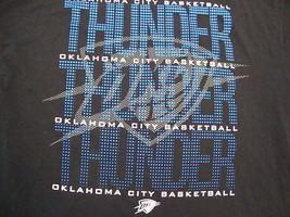 NBA Oklahoma City Thunder Basketball Black UNK Men's T Shirt XL - $14.84