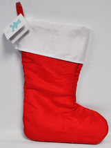 Embroidery Buddy Red Faux Silk Christmas Stocking EB16669R - $17.95