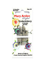Mary Arden Embroidery Needles Sizes 3/9 - $6.25