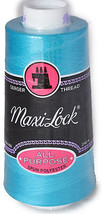 Maxi Lock All Purpose Thread Radiant Turquoise 3000 YD Cone  MLT-056 - $7.50