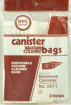 Kenmore 5011 Canister Vacuum Cleaner Bags 46-2408-02 - $4.25