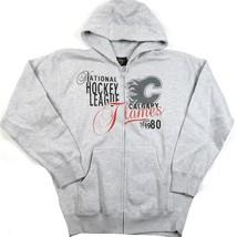 Calgary Flames Hoodie Men's NHL Hockey Full Zip Halftime Sweatshirt